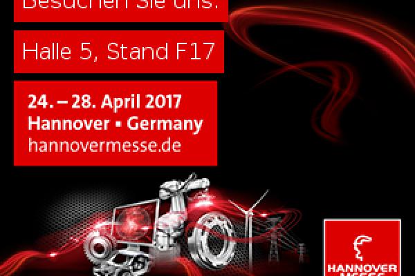 Hannover Messe 2017 Sanayi Fuarına katılıyoruz..